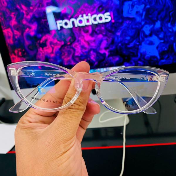 Armação de Óculos Gatinho Ray-Ban Nina RX4314 Transparente