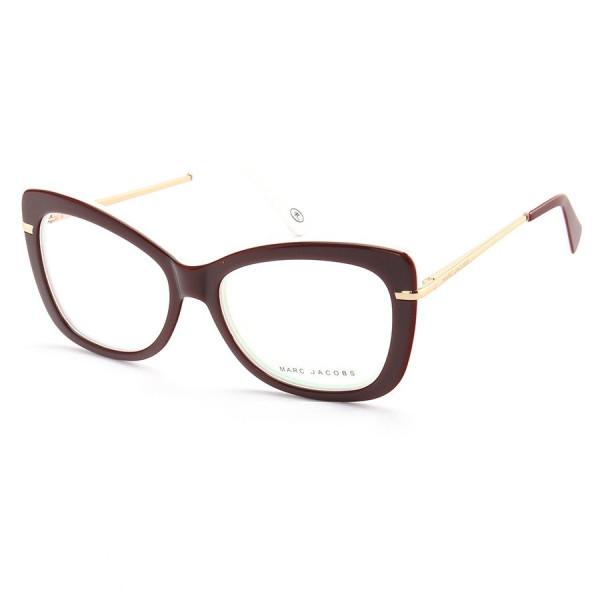 Armação de Óculos Quadrada Marc Jacobs MJ545 Bordô e Branco