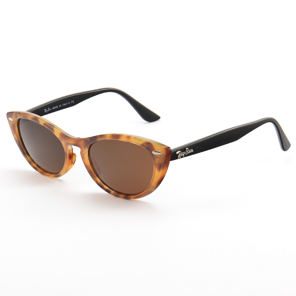 Óculos de Sol Gatinho Ray-Ban Nina RX4314 Tartaruga e Preto