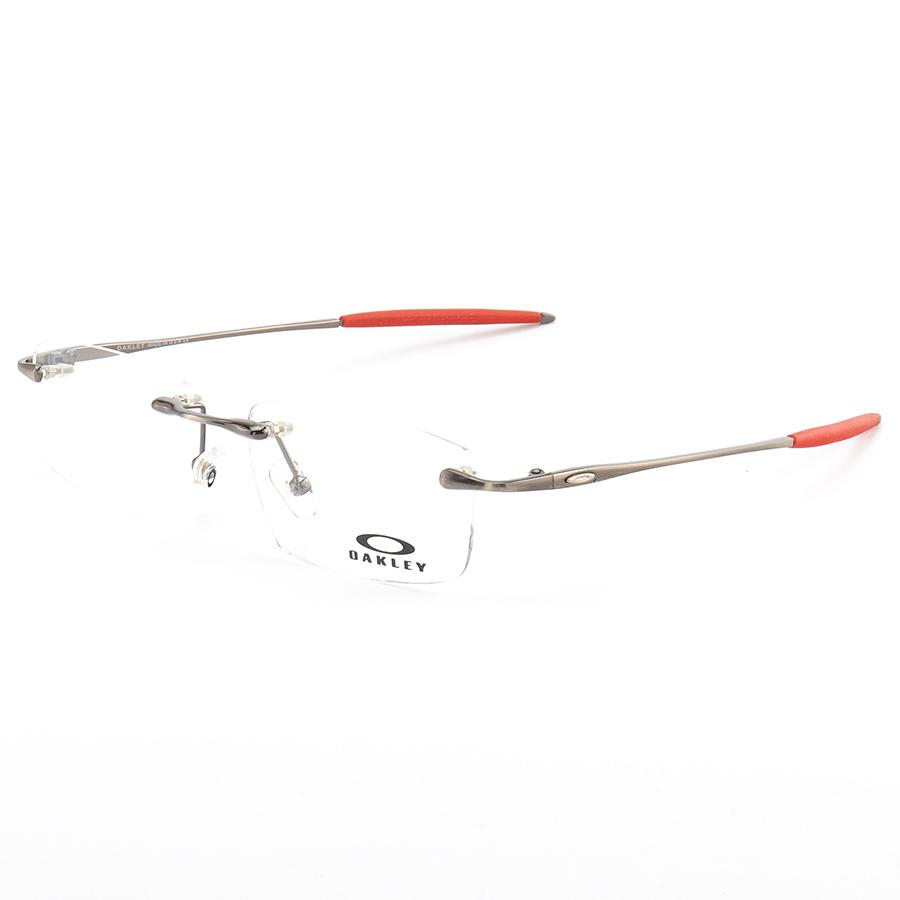Armação de Óculos Sem Aro Oakley OX3113 Sayback Grafite e Vermelho