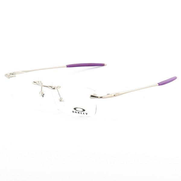 Armação de Óculos Sem Aro Oakley OX3113 Sayback Prata e Roxo