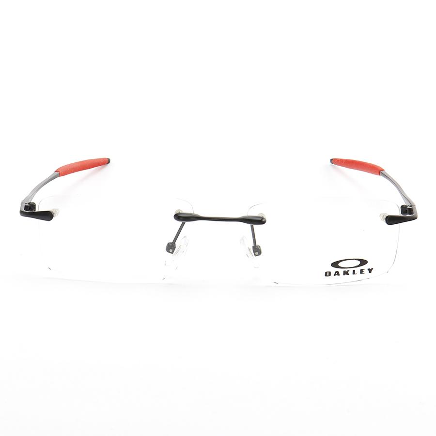 Armação de Óculos Sem Aro Oakley OX3113 Sayback Preto e Vermelho
