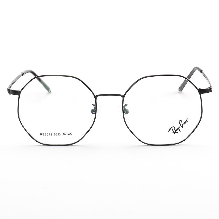 Armação de Óculos Hexagonal Ray-Ban RB3548 Preta