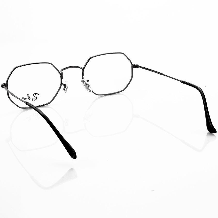 Armação de Óculos Octagonal Ray-Ban RB3556 Preto