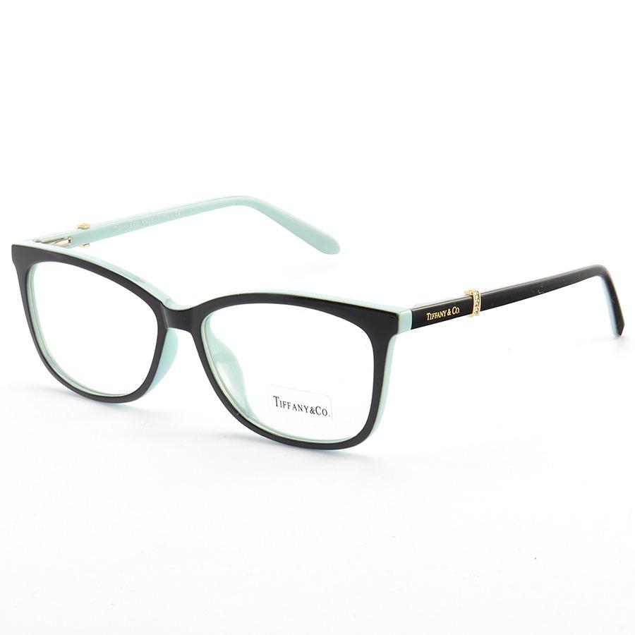 Armação de Óculos Quadrada Tiffany & Co LQ93345 Preto e Azul