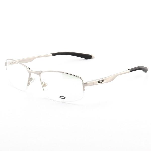 Armação de Óculos Meio Aro Oakley Evade-B OX138 Prata