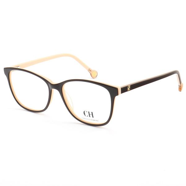 Armação de Óculos Quadrada Carolina Herrera VHE779 Marrom e Creme