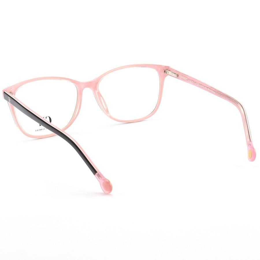 Armação de Óculos Quadrada Carolina Herrera VHE779 Preto e Rosa