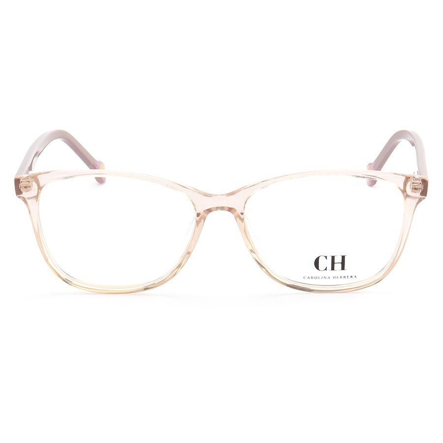 Armação de Óculos Quadrada Carolina Herrera VHE779 Creme e Lilás