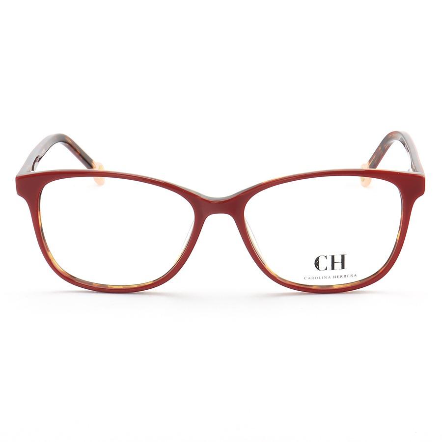 Armação de Óculos Quadrada Carolina Herrera VHE779 Vermelho Tartaruga
