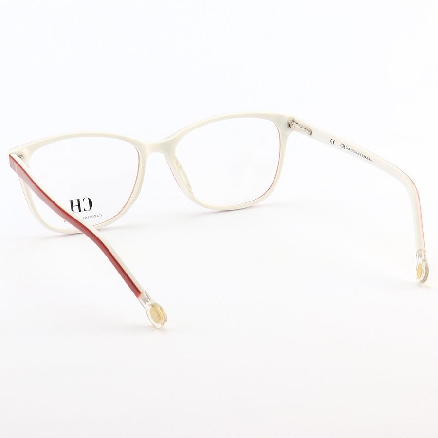 Armação de Óculos Quadrada Carolina Herrera VHE779 Vermelho e Branco