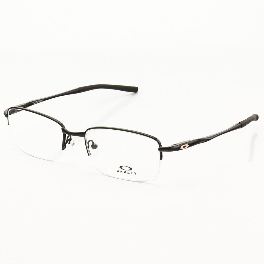 Armação de Óculos Meio Aro Oakley Clubface OX3102 Preto