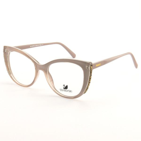 Armação de Óculos Gatinho Swarovski SK5291 Lilás Nude