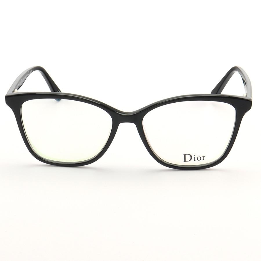 Armação de Óculos Quadrado Dior CD581 Preto