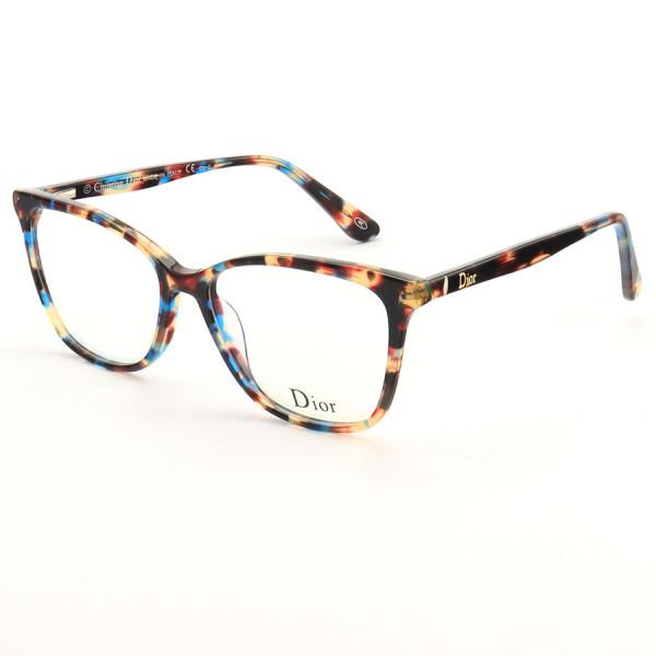 Armação de Óculos Quadrado Dior CD581 Azul Tartaruga