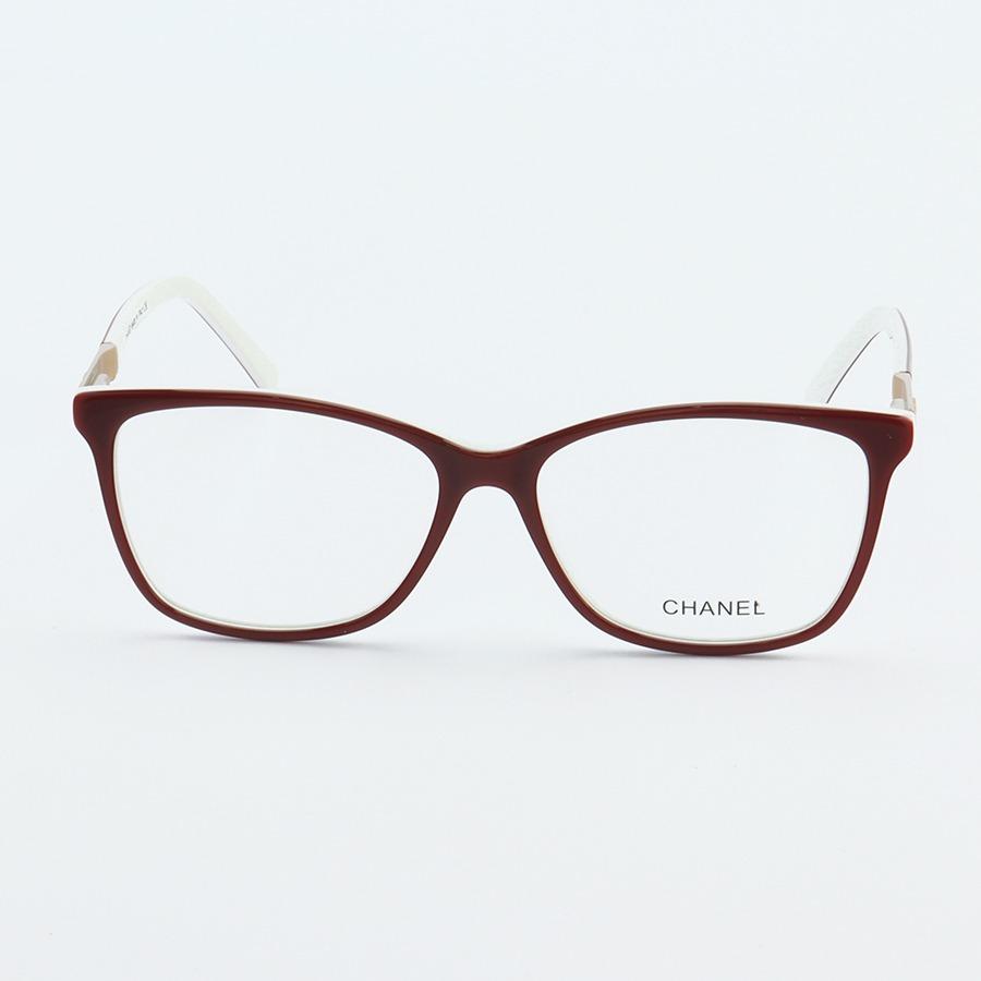 Armação de Óculos Quadrada Chanel CH3501 Vermelho