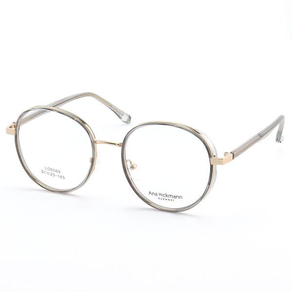 Armação de Óculos Redonda Ana Hickmann LQ0089 Cinza