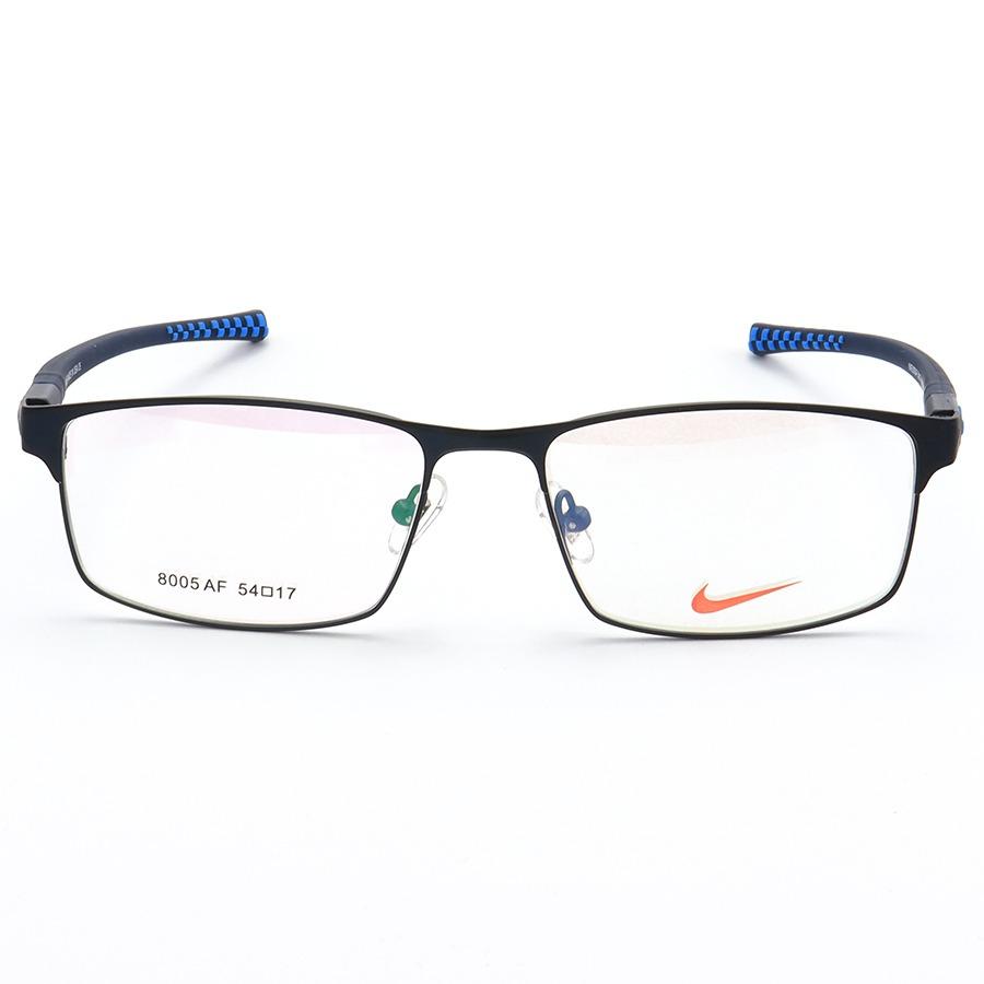 Armação de Óculos Retangular Nike 8005AF Todo Azul