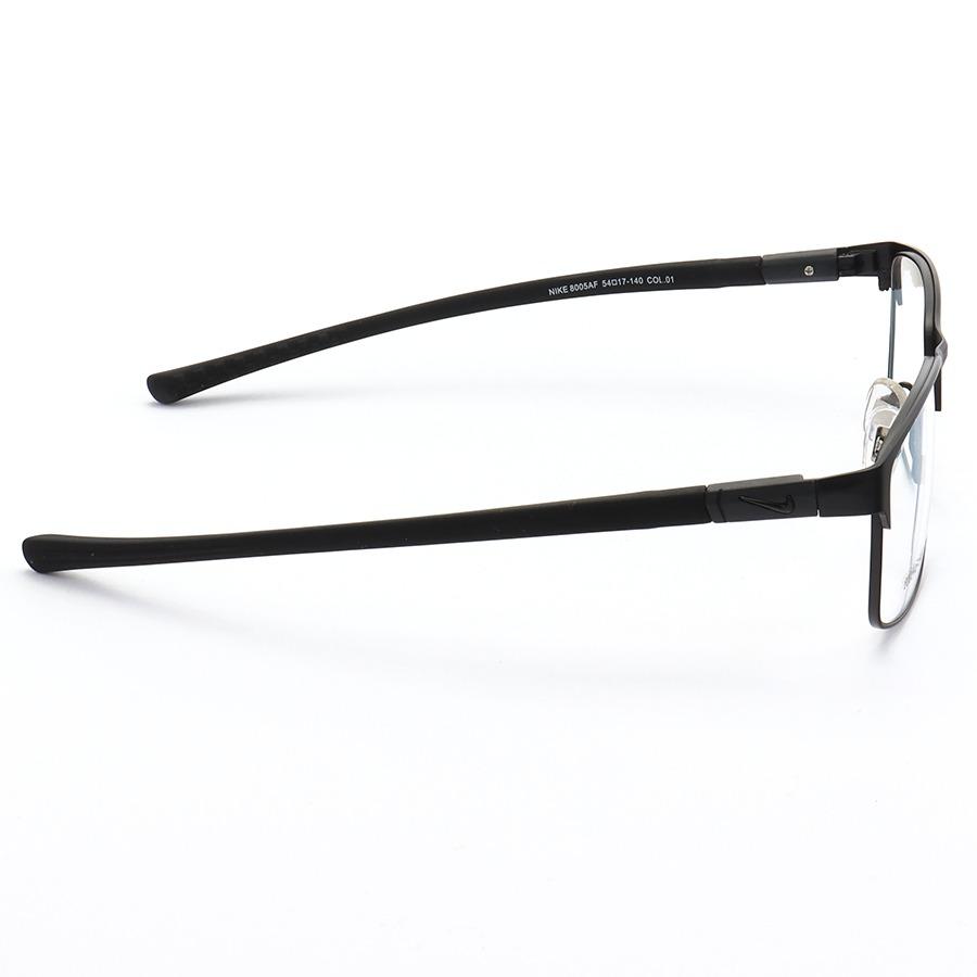 Armação de Óculos Retangular Nike 8005AF Todo Preto
