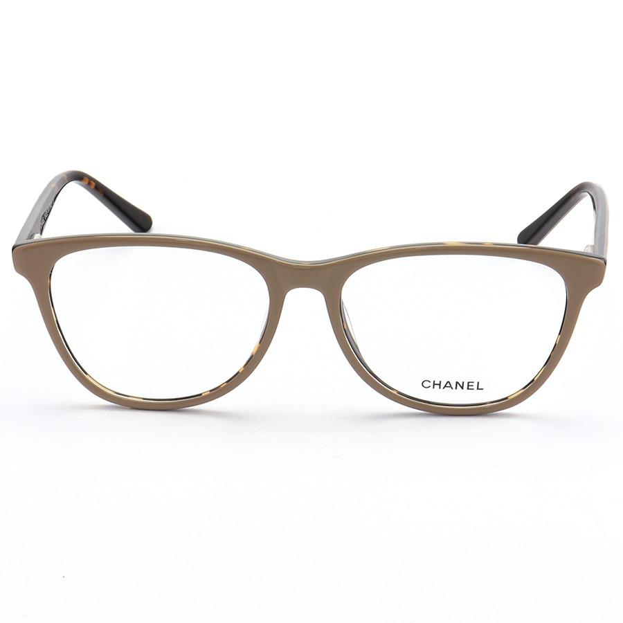 Armação de Óculos Quadrada Chanel CH3598 Nude
