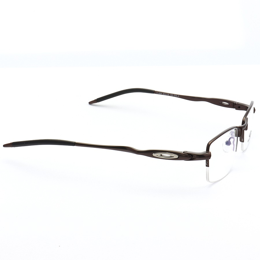 Armação de Óculos Oakley Meio Aro Evade OX3208 Marrom