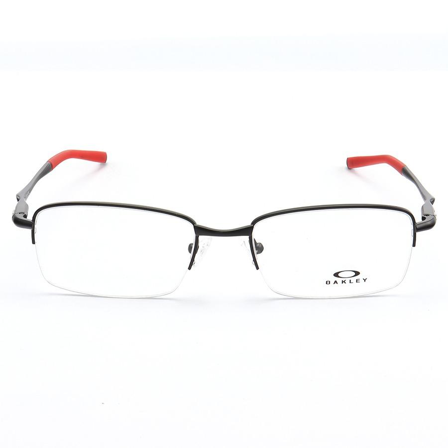 Armação de Óculos Oakley Meio Aro Clubface OX3102 Preto e Vermelho