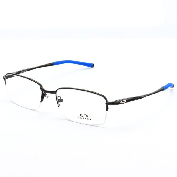 Armação de Óculos Oakley Meio Aro Clubface OX3102 Preto e Azul