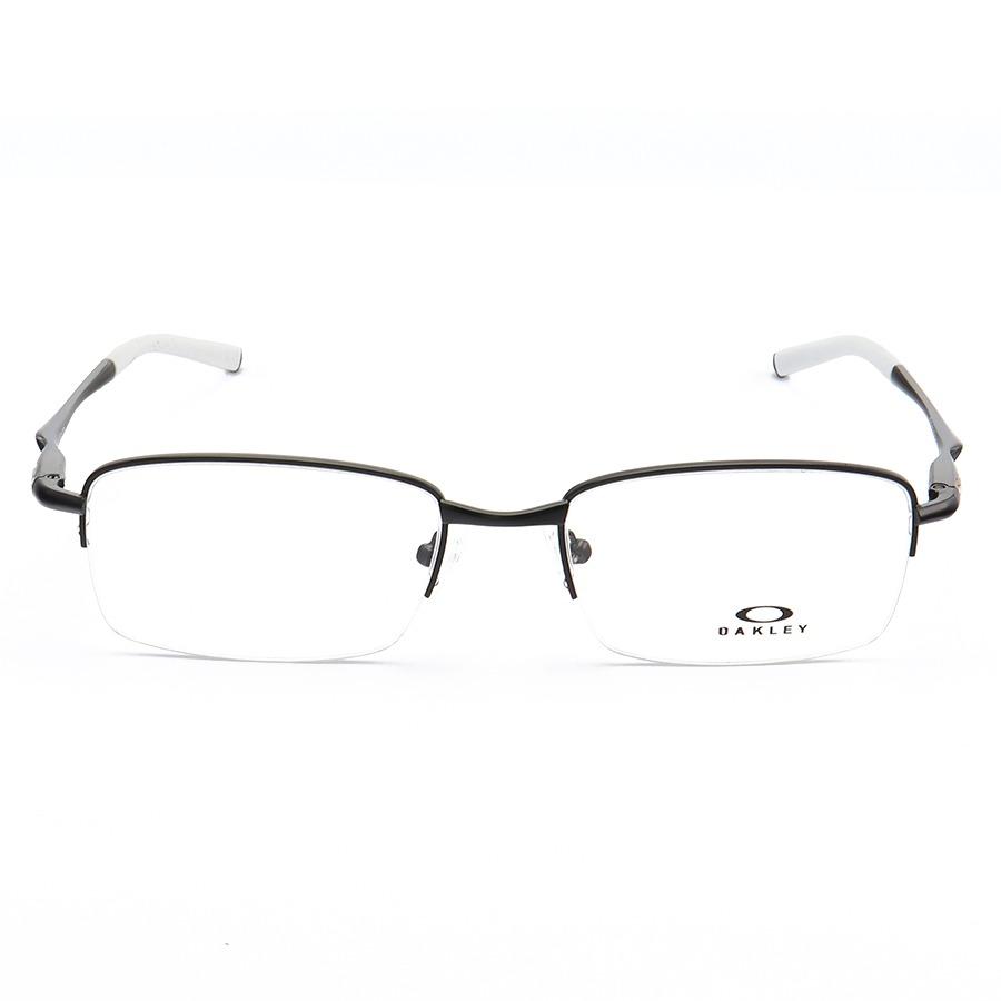 Armação de Óculos Oakley Meio Aro Clubface OX3102 Preto e Branco