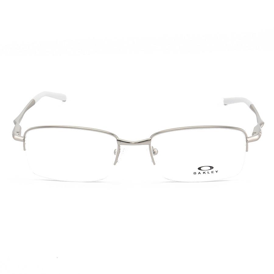 Armação de Óculos Oakley Meio Aro Clubface OX3102 Prata