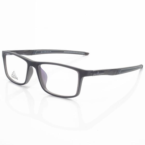 Armação de Óculos Retangular Adidas A692 Preto e Cinza