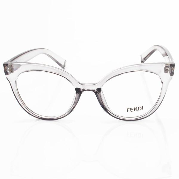 Armacao de Óculos Gatinho Fendi FF2017 Cinza Translucido