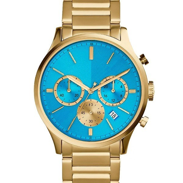 Óculos Ray-Ban Aviador Azul Degrade + Relogio Dourado e Azul