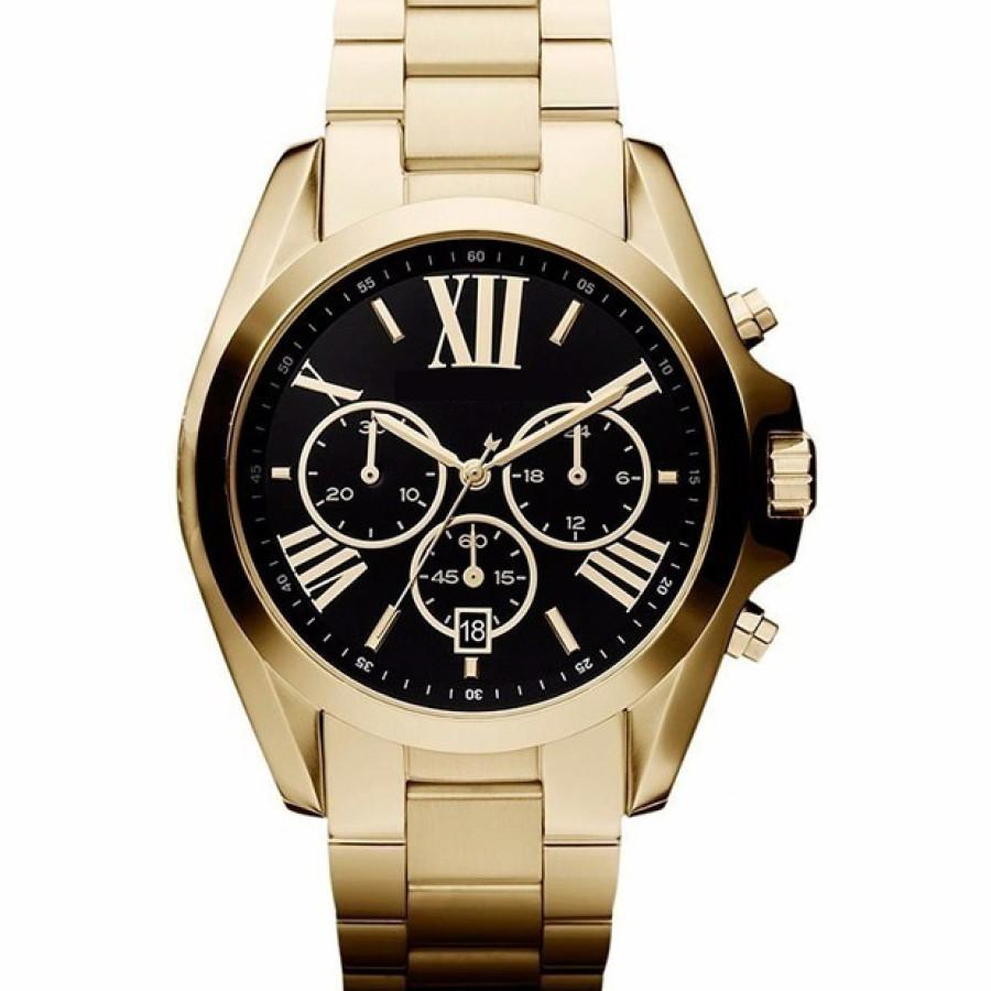 Óculos Ray-Ban Aviador Marrom Degrade + Relógio Gold Black