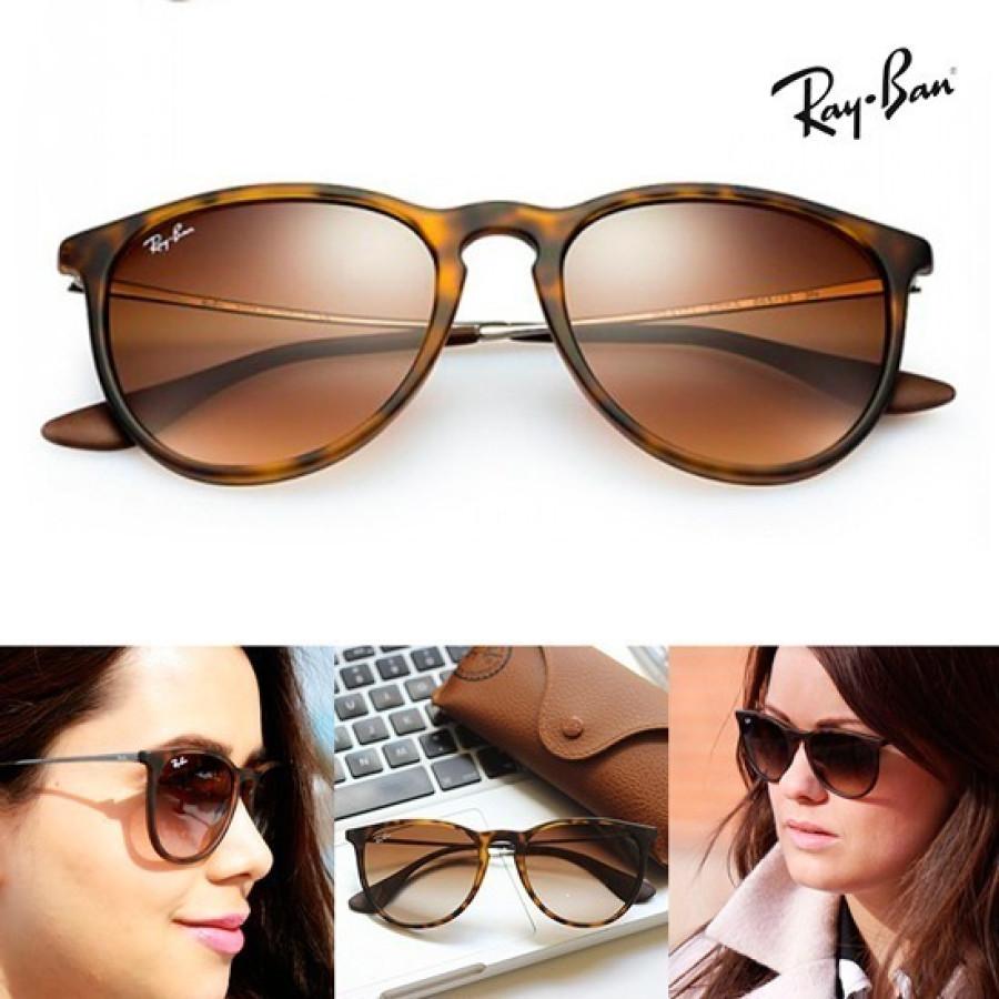 Óculos Ray-Ban Erika Tartaruga Fosco + Relogio Dourado