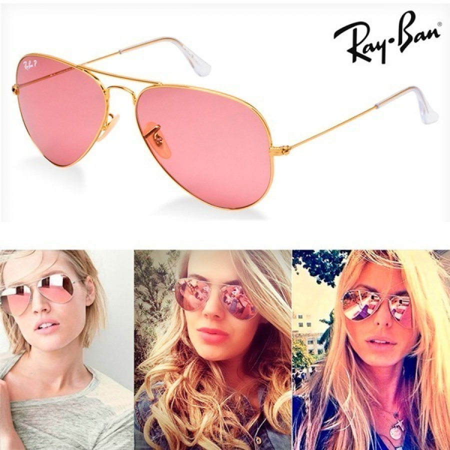 Óculos Rayban Aviador Rose + Óculos Rayban Aviador Preto