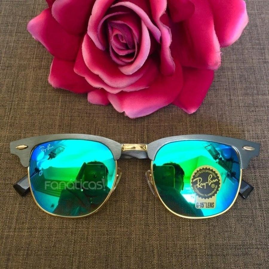 Óculos Ray-Ban Clubmaster RB3507 Espelhado - Grafite e Verde