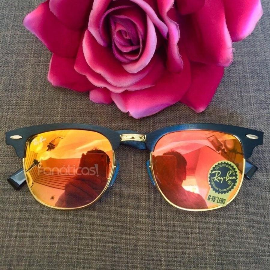 Óculos Ray-Ban Clubmaster RB3507 Espelhado - Grafite e Vermelho Alaranjado