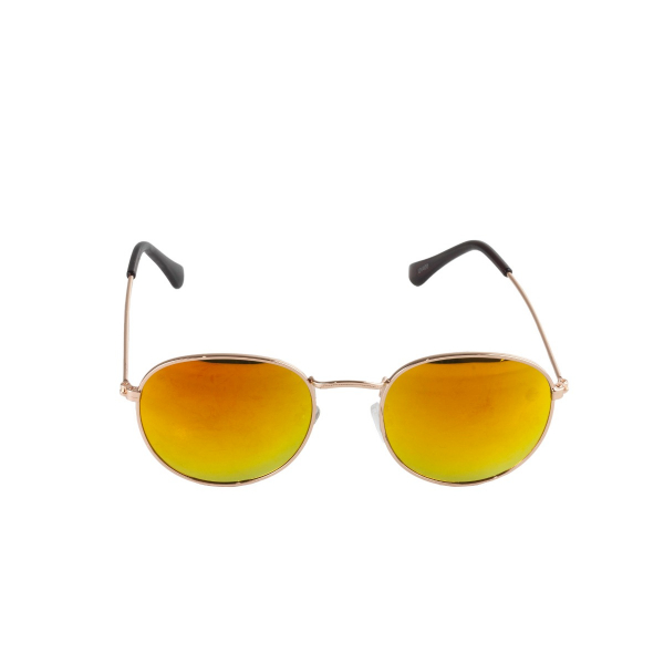 Óculos de Sol Ray Ban Round 3447 Dourado Com Lente Amarela